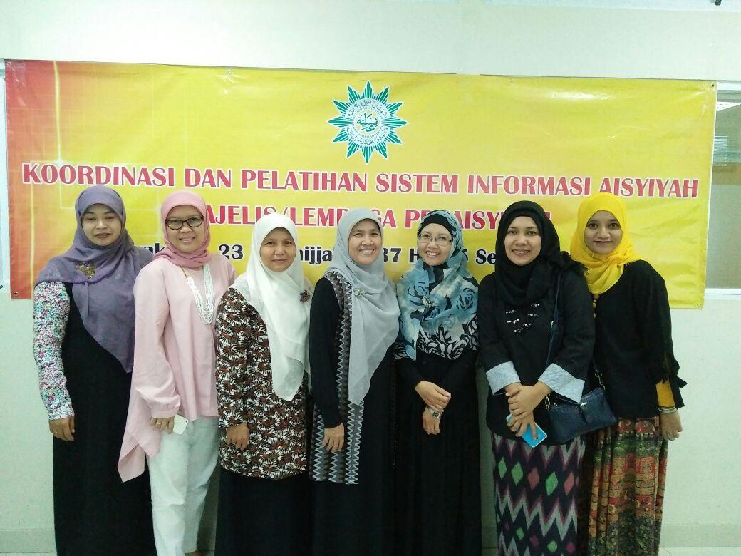 Koordinasi dan Pelatihan Sistem Informasi Aisyiyah, Unisa- Yogjakarta, 25 September 2016. dari LLHPB PPA di wakili oleh Ibu Erni Juliana dan Ibu Salis M.